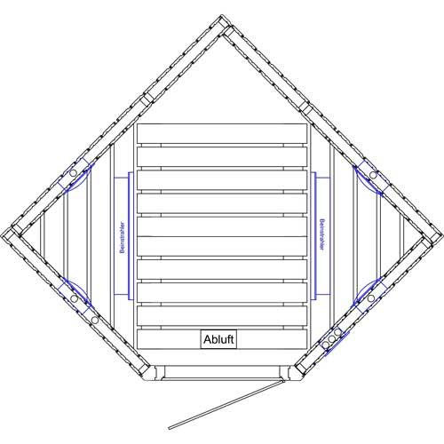 infrarood cabine 147 x 147 met straler