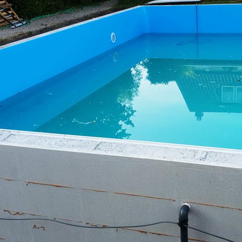 bouwkundig zwembad 5 x 10 meter zwembad vullen