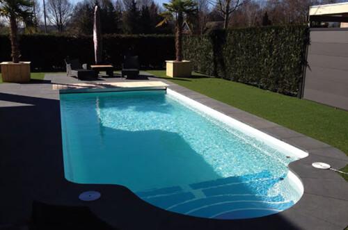 polyester zwembad garda 950 met lamellenafdekking