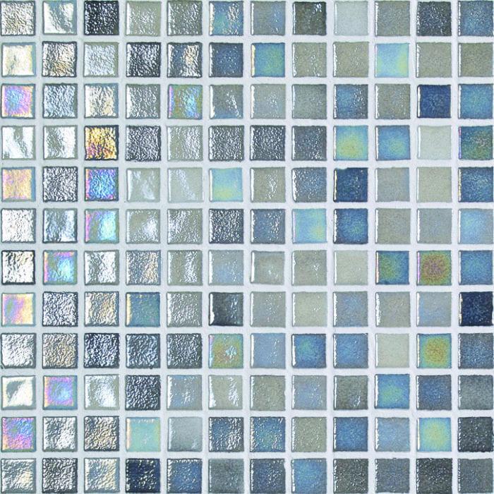 betegelde zwembaden mozaiek kleur platinum gray