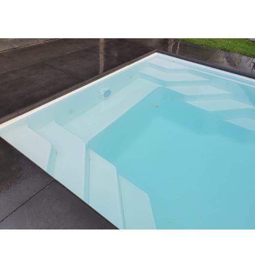 zwembad 8,5 x 3,5 meter aanleggen