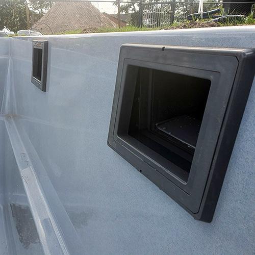 skimmer polyester zwembad Kariba 900