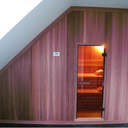 sauna project cabine schuin