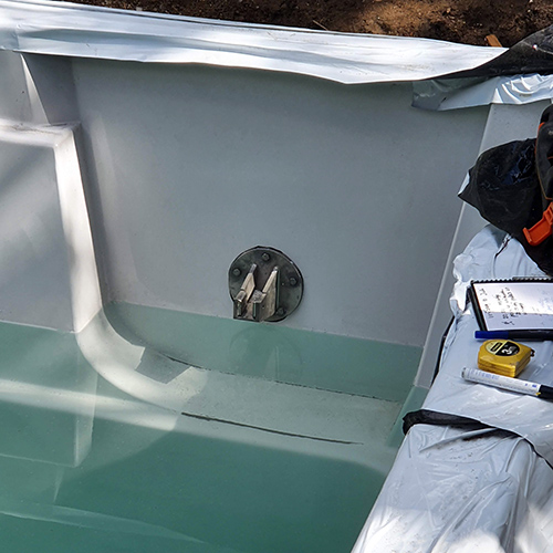 schacht voor geintegreerde lamellenafdekking zwembad