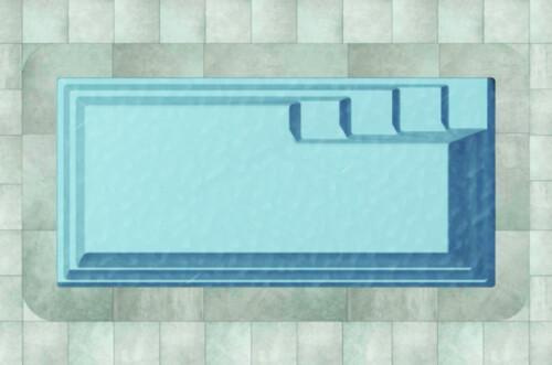 polyester zwembad turano 610 bovenaanzicht