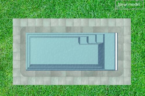 polyester zwembad turano 750 beach bovenaanzicht
