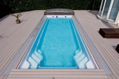 polyester zwembad wanaka 1000 met lamellenafdekking