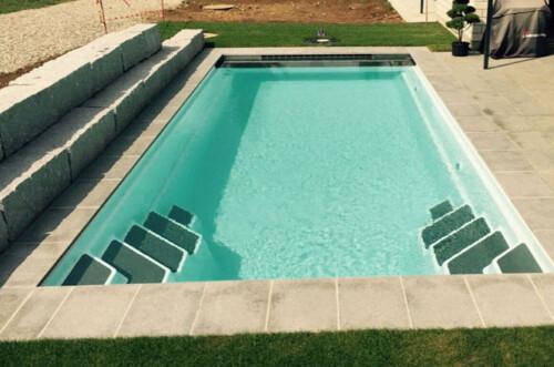polyester zwembad wanaka 650 met lamellenafdekking