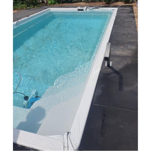zwembad 6,5 x 3,5 meter aanleggen