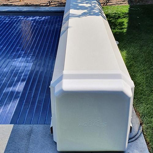 aanleg aquadeck lamellenafdekking bovengronds geplaatst