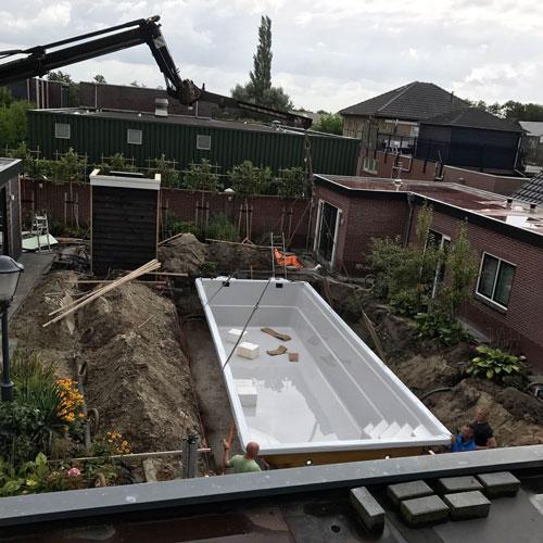 zwembad project Nijkerkerveen zwembad op betonnen fundering